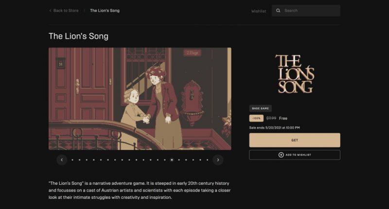 Đang miễn phí game The Lion's Song