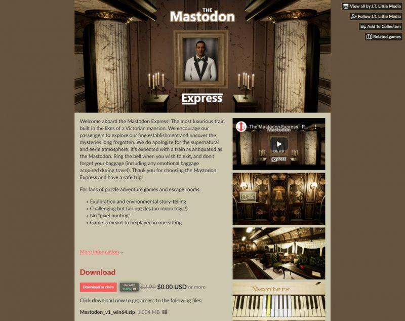 Đang miễn phí game The Mastodon Express