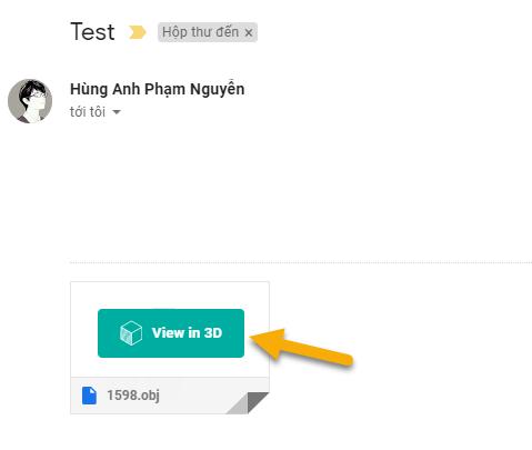 Cách xem ảnh 3D ngay trong Gmail