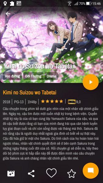 Animechill: Ứng dụng xem Anime chất lượng cao trên Android