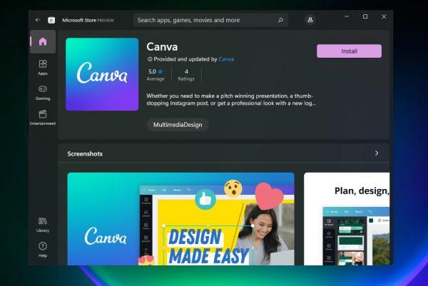 OBS Studio, Canva, WinZip đã có trên Microsoft Store