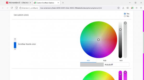 Cách làm thanh cuộn Firefox, Microsoft Edge gọn đẹp như Chrome