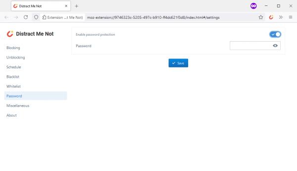 Distract Me Not: Chặn, mở chặn trang web tự động trên trình duyệt