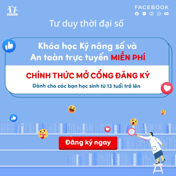 """Facebook và HOCMAI tiếp tục triển khai chương trình học trực tuyến miễn phí """"Tư duy thời đại số"""""""