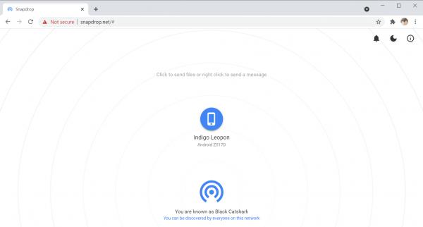 Snapdrop: Dịch vụ chia sẻ file đa nền tảng