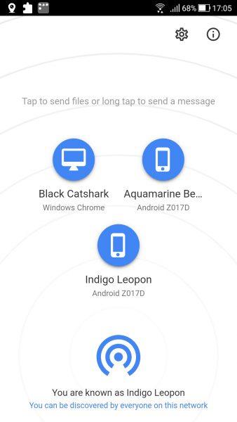 Chia sẻ 2 ứng dụng Android giúp gửi, nhận file chia sẻ với Snapdrop