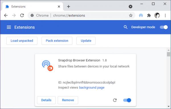 Cách nhận, chia sẻ tập tin với Snapdrop từ tab bất kỳ trên trình duyệt