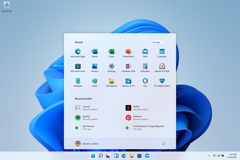 Nút Start Windows 11