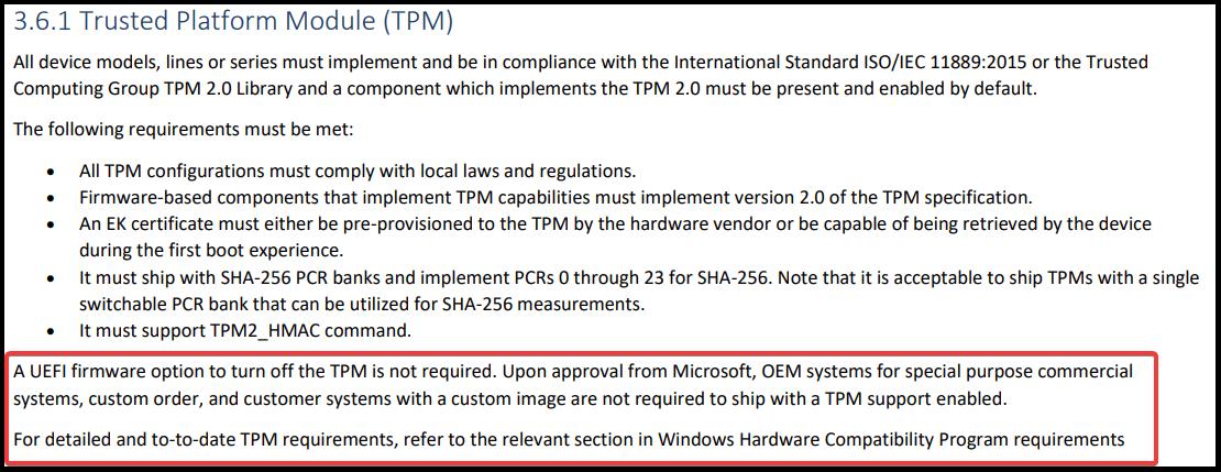 Chính sách TPM trên Windows 11