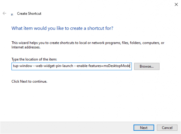 Cách tạo lối tắt cho Web Widget của Microsoft Edge