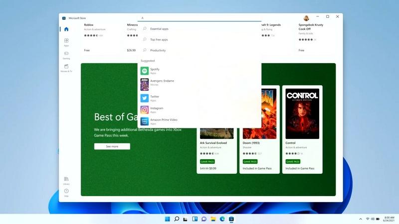 Microsoft Store trên Windows 11 có gì mới?