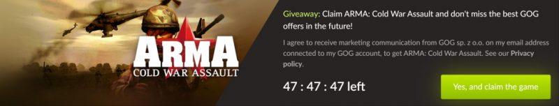 Đang miễn phí game ArmA: Cold War Assault rất hay và vô cùng kinh điển