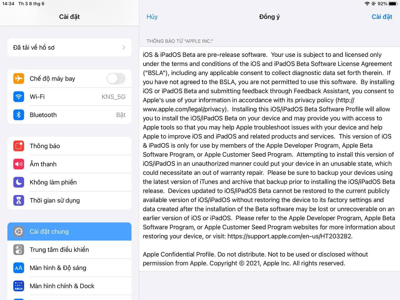 Cách cài đặt iPadOS 15
