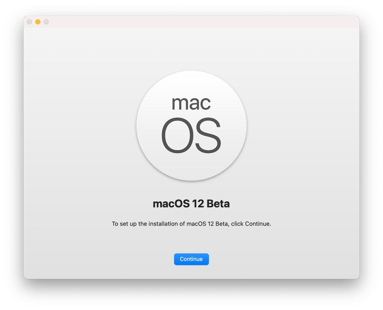 Cách cài macOS Monterey beta