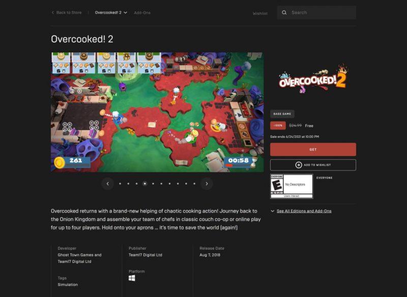 Đang miễn phí game Overcooked! 2
