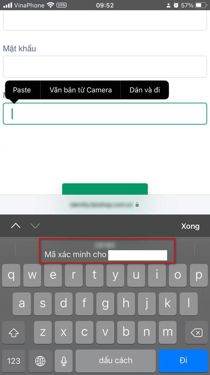 Cách dùng trình xác thực mật khẩu trên iOS 15