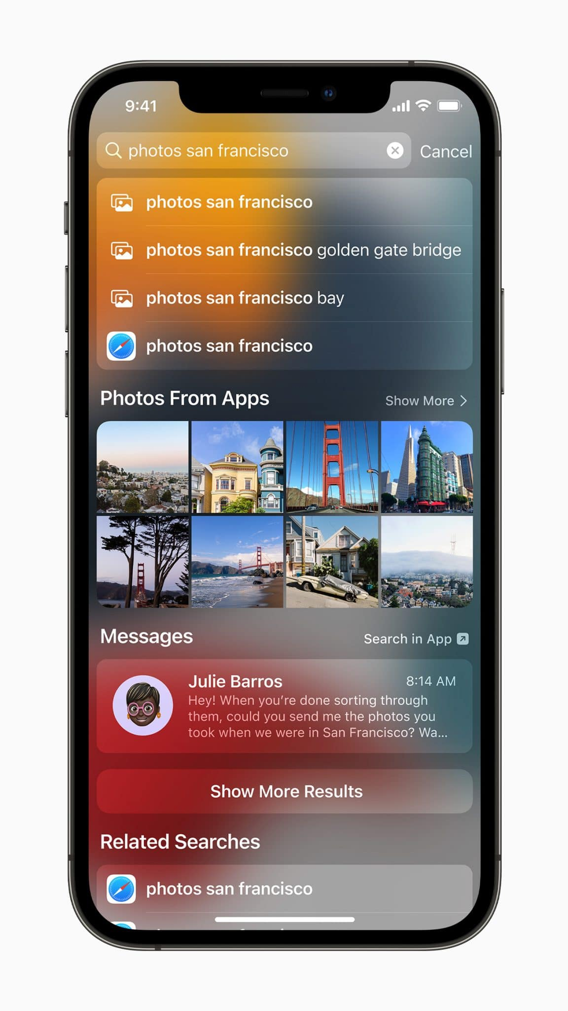 iOS 15 Spotlight