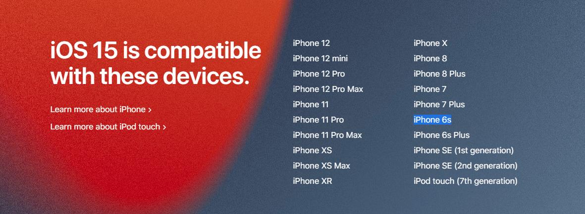 Danh sách thiết bị sẽ tương thích iOS 15