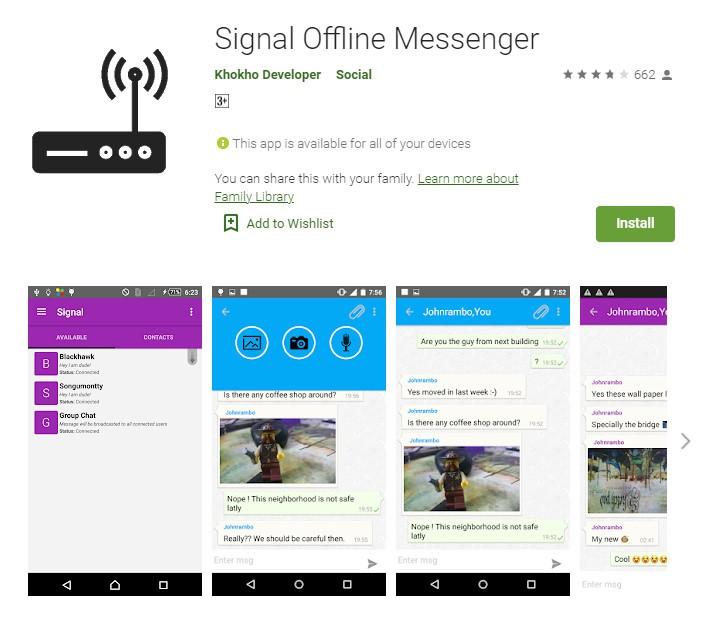 Signal Offline Messenger