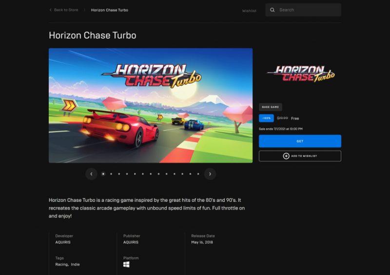 Đang miễn phí game Horizon Chase Turbo