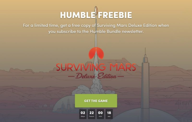 Đang miễn phí game Surviving Mars Deluxe Edition