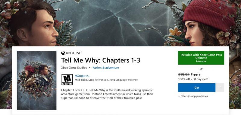 Đang miễn phí game Tell Me Why cho Xbox One và PC