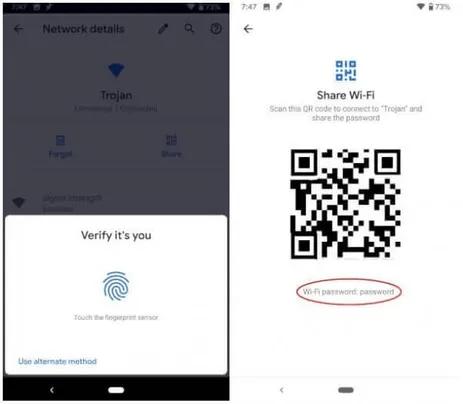Cách xem mật khẩu WiFi đã lưu trên thiết bị Android