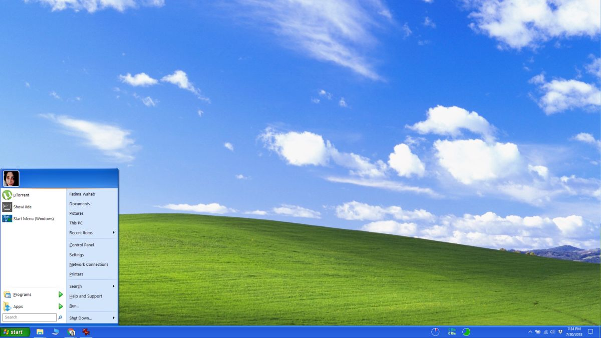 Cách làm Windows 10 trông giống Windows XP