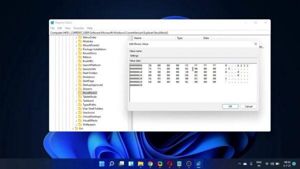 Cách thay đổi vị trí thanh tác vụ trên Windows 11