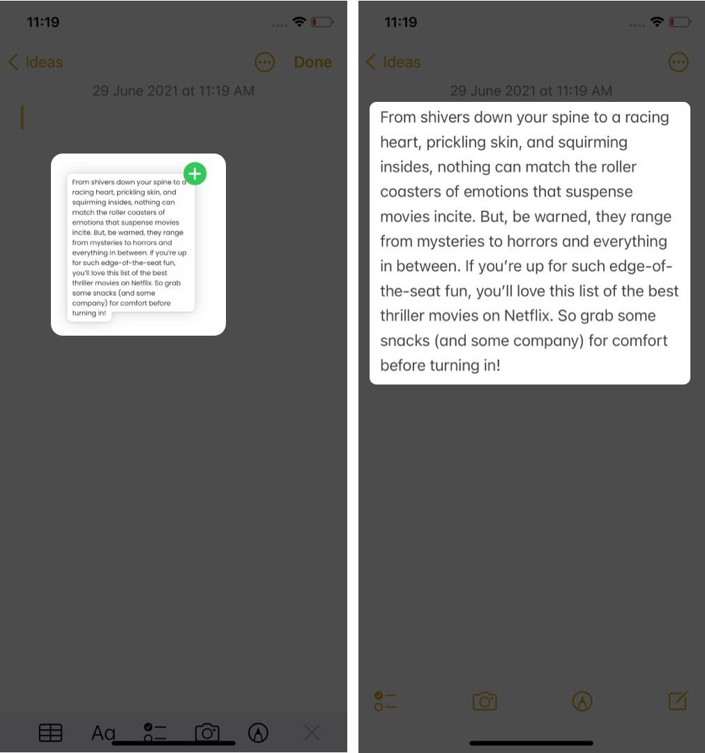 Kéo thả dữ liệu giữa các ứng dụng iOS 15