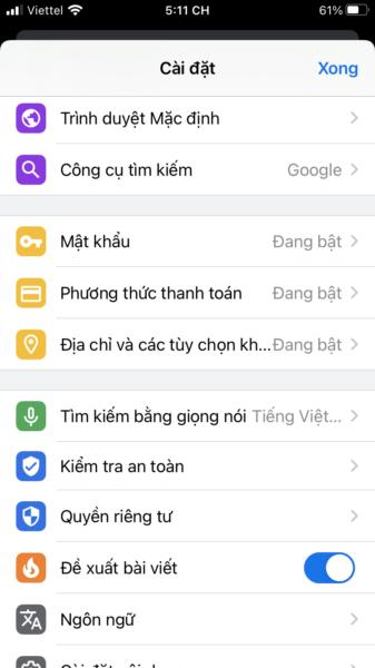 Khóa tab ẩn danh của Chrome bằng Touch ID, Face ID