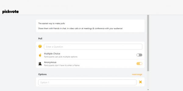 Sử dụng PickVote để tạo bảng thăm dò