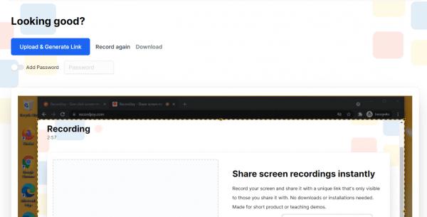 RecordJoy: Quay video màn hình miễn phí trong 3 phút