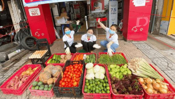 14 cửa hàng Di Dộng Việt TP.HCM bán rau củ quả đồng giá