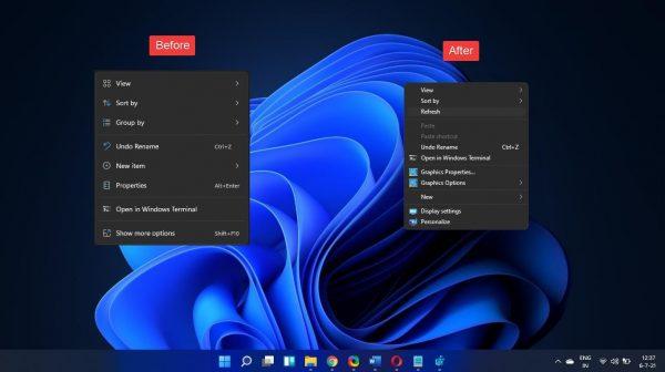 3 cách tắt menu ngữ cảnh chuột phải mới trên Windows 11