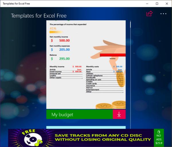 Tải ngay 24 mẫu bảng tính Excel đẹp mắt