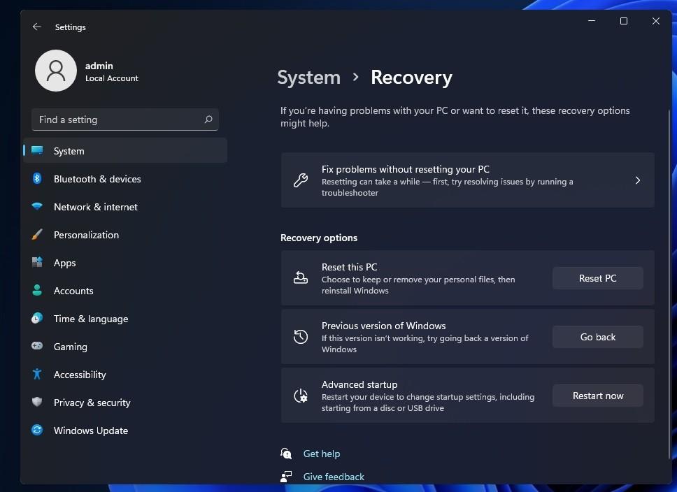 Cách hạ cấp Windows 11 xuống Windows 10