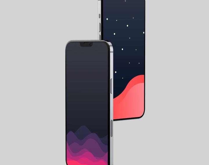 Ảnh nền gợn sóng trừu tượng đẹp cho iPhone