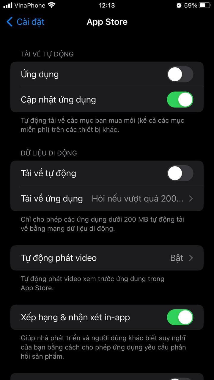 Tự động cập nhật ứng dụng trên iOS 15