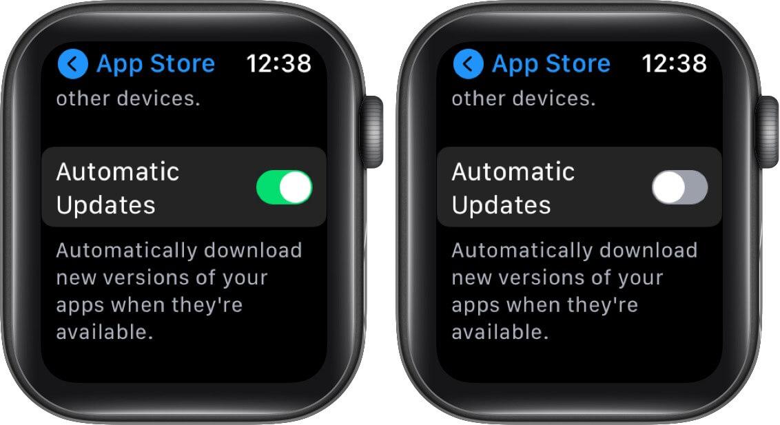 Apple Watch Automatic Updates