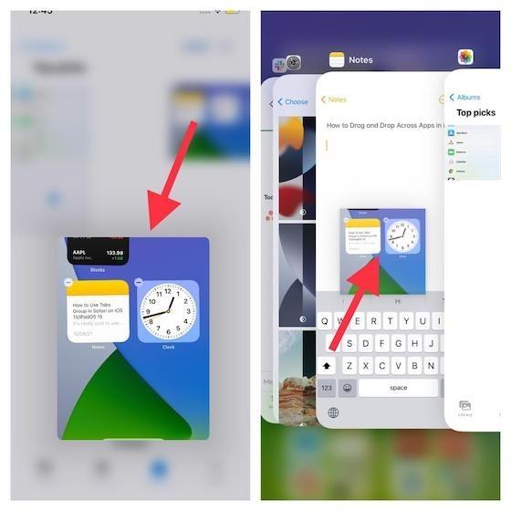 Cách kéo và thả file giữa các ứng dụng trên iOS 15