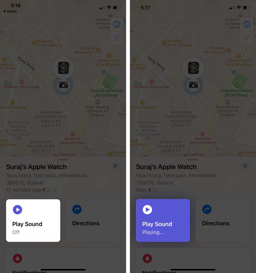 Sử dụng Find My Apple Watch