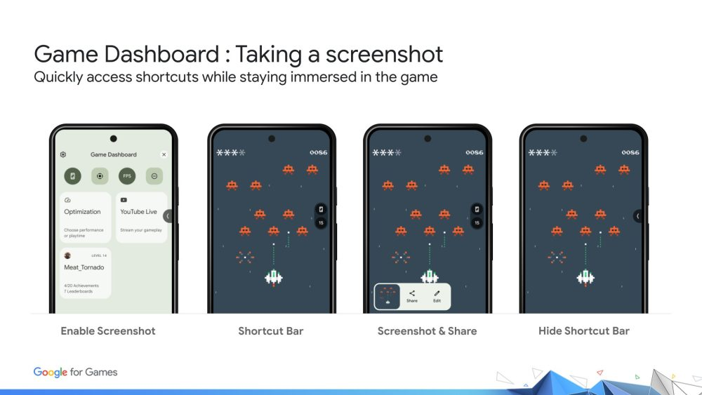 Game Dashboard Android 12