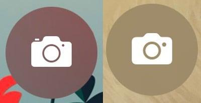 Biểu tượng máy ảnh trên màn hình khóa mới
