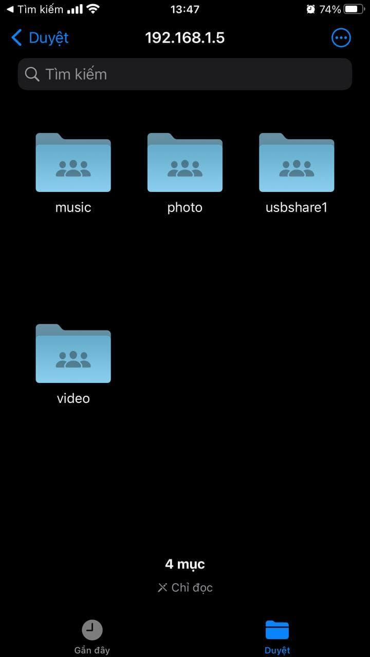 Cách kết nối giao thức SMB bằng iPhone
