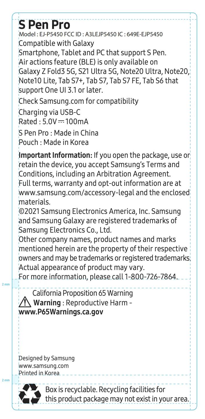 Galaxy Z Fold 3 sẽ hỗ trợ bút S Pen Pro