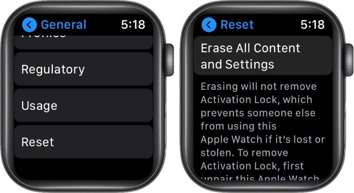 Khôi phục cài đặt gốc cho Apple Watch của bạn