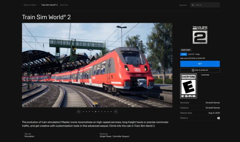 Đang miễn phí game Train Sim World 2