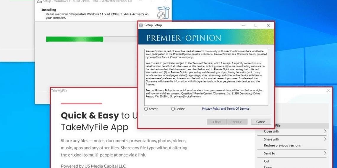 Cài Windows 11 nguồn không rõ ràng có thể nhiễm malware
