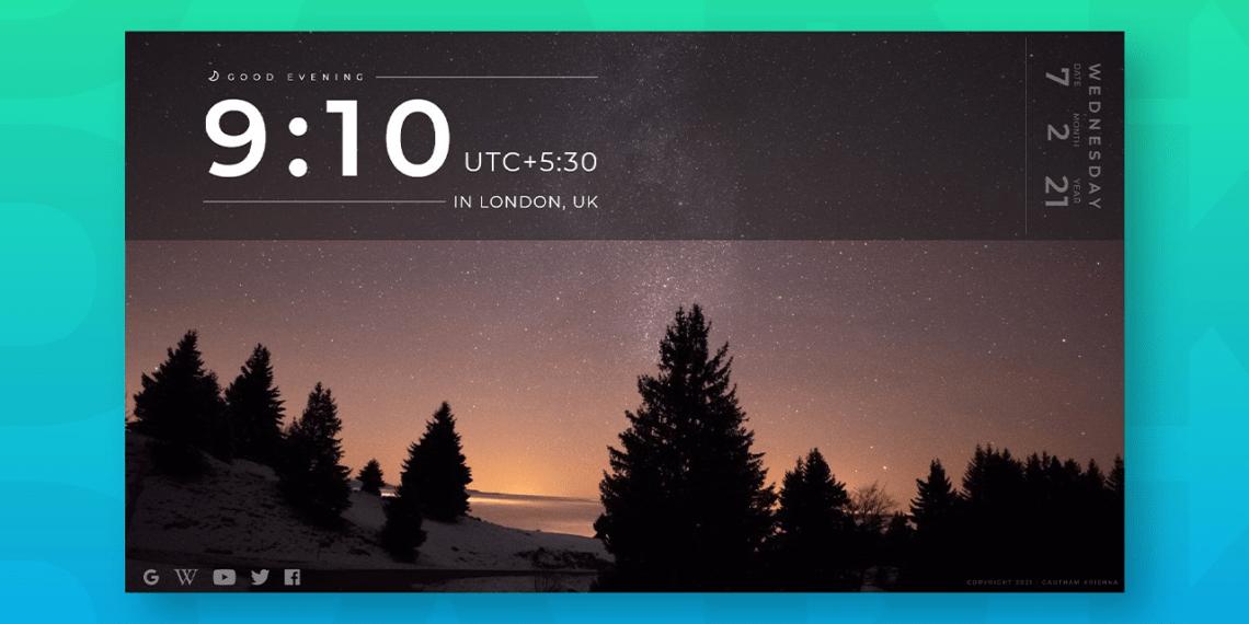ClockTab: Làm mới trang New Tab trình duyệt Microsoft Edge